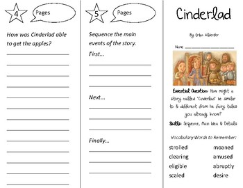 Cinderlad Trifold - Open Court 2nd Grade Unit 6 Lesson 3