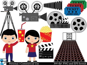 Cinema Digital Clip Art Graphics 63 images cod19