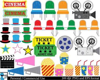 Cinema Props - Clip Art Digital Files Personal Commercial Use cod201