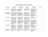 Cinematography Poetry Project Rubric