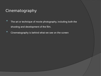 Cinematography Power Point