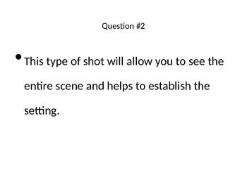 Cinematography Quiz