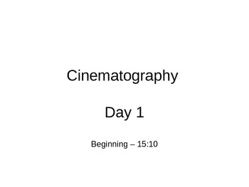Cinematography and The Film Hero