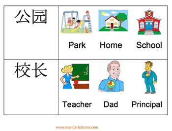 Chinese Picture Vocabulary Card Game