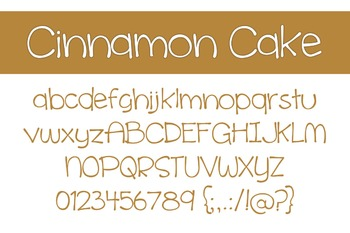 Cinnamon Cake Font for Commercial Use