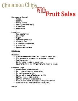 Cinnamon Chips and Fruit Salsa
