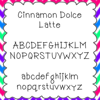 Cinnamon Dolce Latte Font {personal and commercial use; no