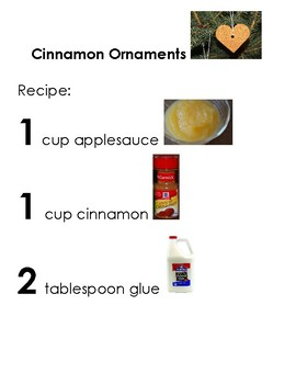 Cinnamon Ornaments Adapted Recipe