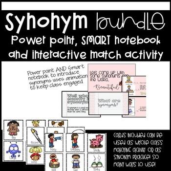no prep! SYNONYM BUNDLE- Editable Power point
