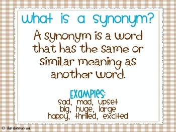Cinnamon or Synonym?  Synonym practice with a sweet twist!