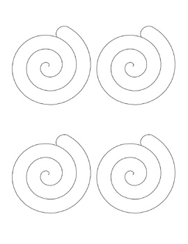 Cinnamon roll outline