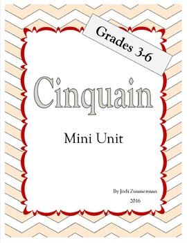 Cinquain Poetry Mini Unit