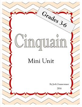 Cinquain Poetry Mini Unit