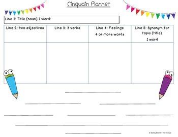 Cinquain Planning poster