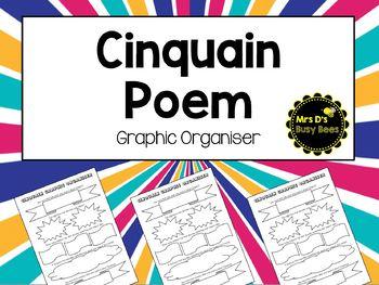 Cinquain Poem Graphic Organiser