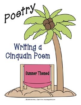 Cinquain Poem- Summer Themed- FREEBIE
