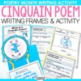 Cinquain Poem Template Worksheet and Activity