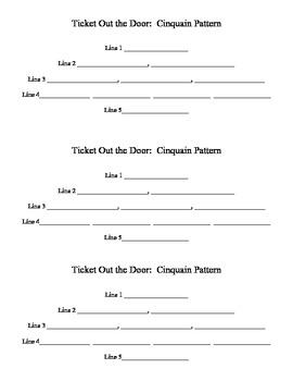Cinquain Poem form