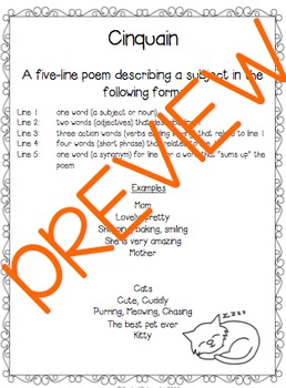 Cinquain Poems: Defining & Writing
