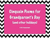 Cinquain Poems for Grandparents Day and other Holidays