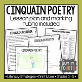 Cinquain Poetry Lesson Plan and Marking Rubric