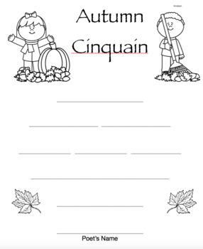 Cinquain Poetry Frames - Generic & Seasonal