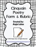 Cinquain Poetry Template & Rubric: Creative Writing Form