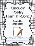 Cinquain Poetry Template & Rubric: Creative Writing Form