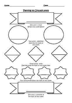 Cinquain Visual Planner
