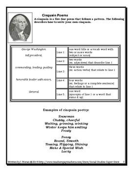 Cinquain Poem Rubric and Examples