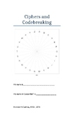 Ciphers and Codebreaking (mini booklet)