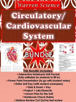 Circulatory/Cardiovascular System Unit *BUNDLE* (4th Unit Spr Sem.-U9 in Series)
