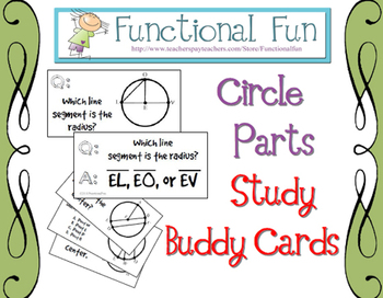 Circle Parts Study Buddy Cards