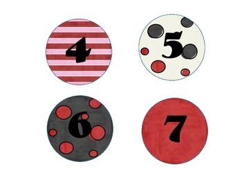 Circle 3 In. Numbers