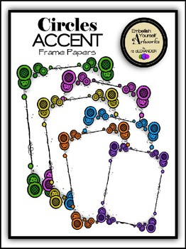 Circle Accents Frame Papers Clipart
