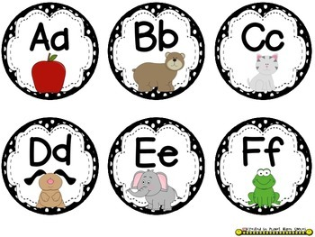 Circle Number and Alphabet Word Wall Set