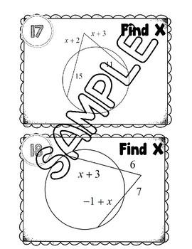 Circle Angle and Segment Cards