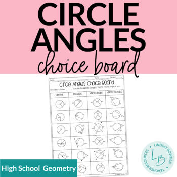 Circle Angles Choice Board