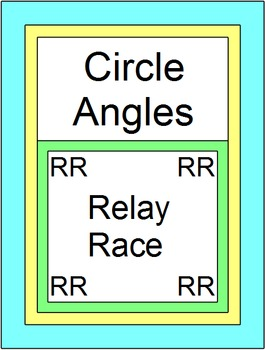 Circle Angles - RELAY RACE GAME (Groups of 2 or 4) 8 rounds of 4 problems