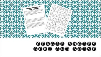 Circle Angles - Sort and Solve