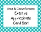 Circles: Exact Answer vs Approximate Answer Card Sort