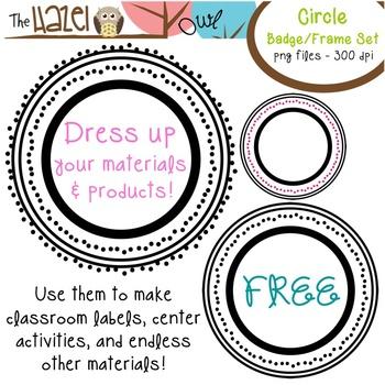 FREE Circle Badge Set: Graphics for Teachers