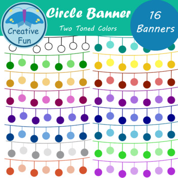 Circle Banner Clipart Two Toned