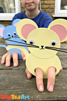 Circle Based MOUSE Finger Puppet - Simple STEAM for Preschool, Chinese New Year