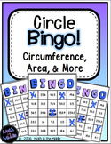 Circles Bingo Math Review Game (Area, Circumference, & More)