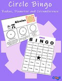 Circle Bingo: Radius, Diameter and Circumference