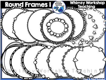 Circle Frames 1 Clip Art - Whimsy Workshop Teaching