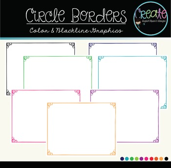 Circle Borders - Digital Clipart