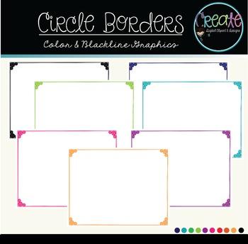 Circle Borders - Digital Clipart
