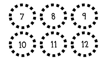 Calendar Cards (Numbers and Holidays)